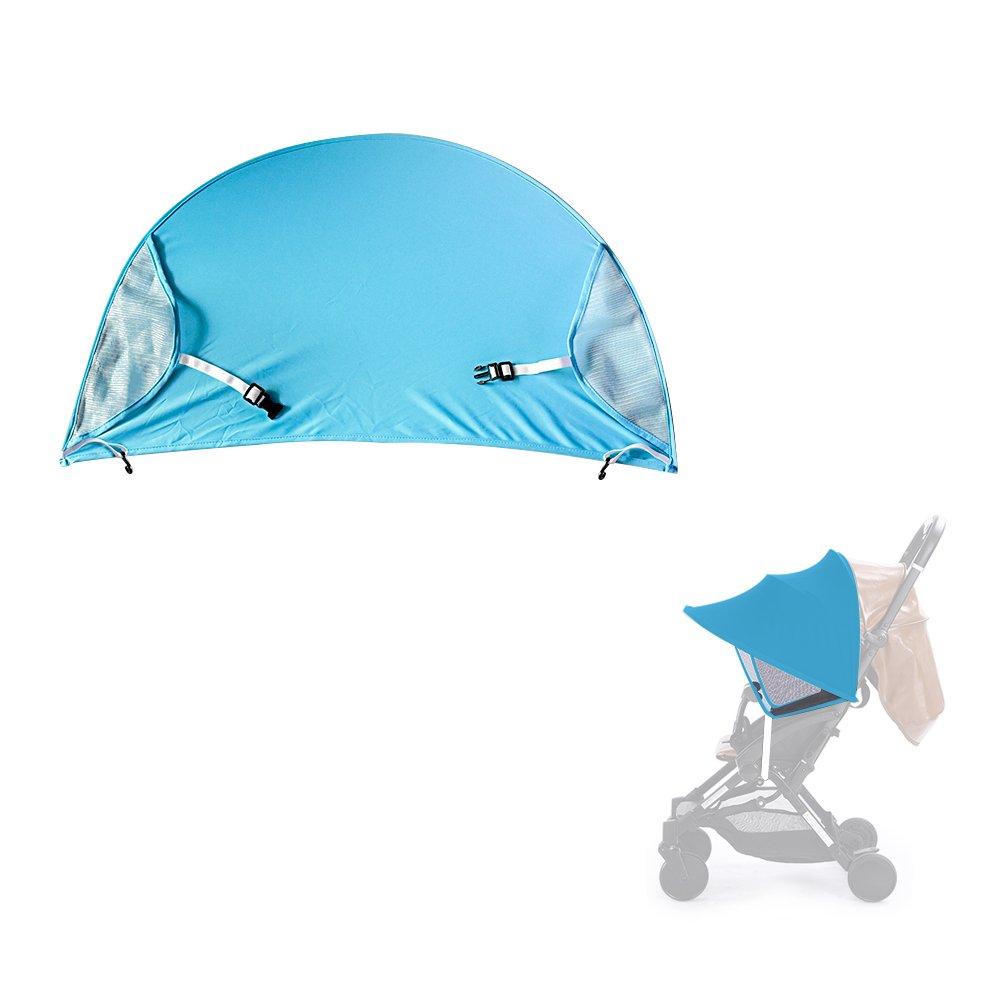Topwon Universal Stroller Canopy Extender Sun Shade Awning for Baby Carrier/Infant Pram (Blue)