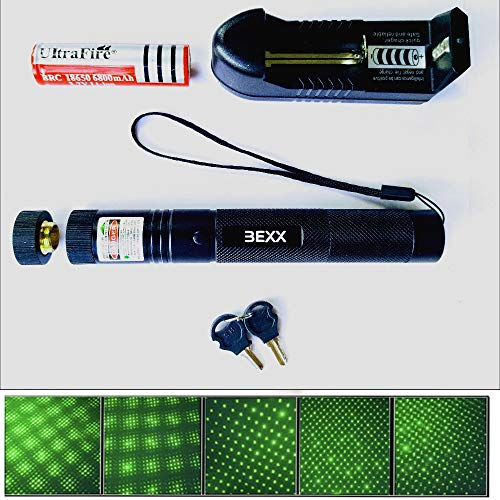 (Bexx Green Laser Pointer, High Power,Tactical Hunting Rifle Scope Sight, Laser Pen, Projector Pen Pointer,Travel, Camping, Survival, Outdoor Portable Flashlight, LED Laser Cat Toy, Party Rave Lights)