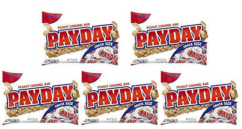 Payday, Peanut Caramel Candy Bars Snack Size, 20.3 Oz (Pack of 5) by Payday, Peanut Caramel Candy Bars Snack Size, 20.3 Oz