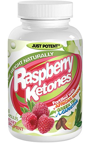Raspberry Ketones by Just Potent. All-Natural Weight Loss Supplement with African Mango Green Tea L-Carnitine  60 Capsules