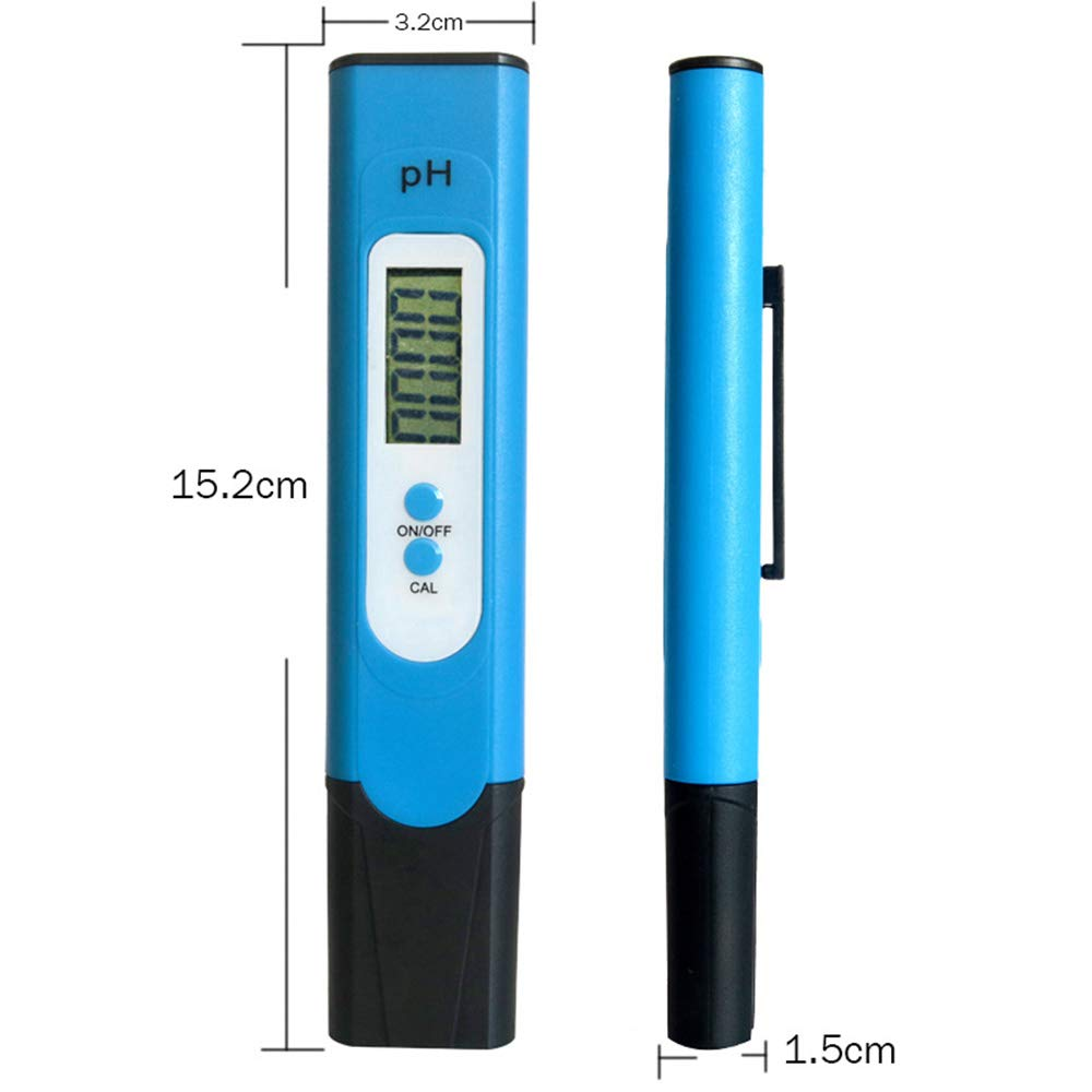 Yifanzi Pen Water Quality Tester PH Tester Digital PH Meter Pocket Size 0.01 PH High Accuracy for Drinking Water Aquariums