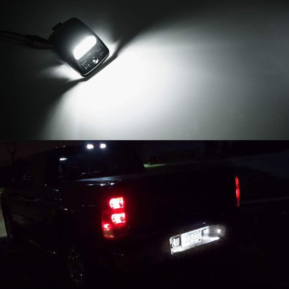 Pack of 2 MOFORKIT LED License Plate Light Lamp Assembly For 2005-2015 Toyota Tacoma Pickup Truck 6000K Dimond White