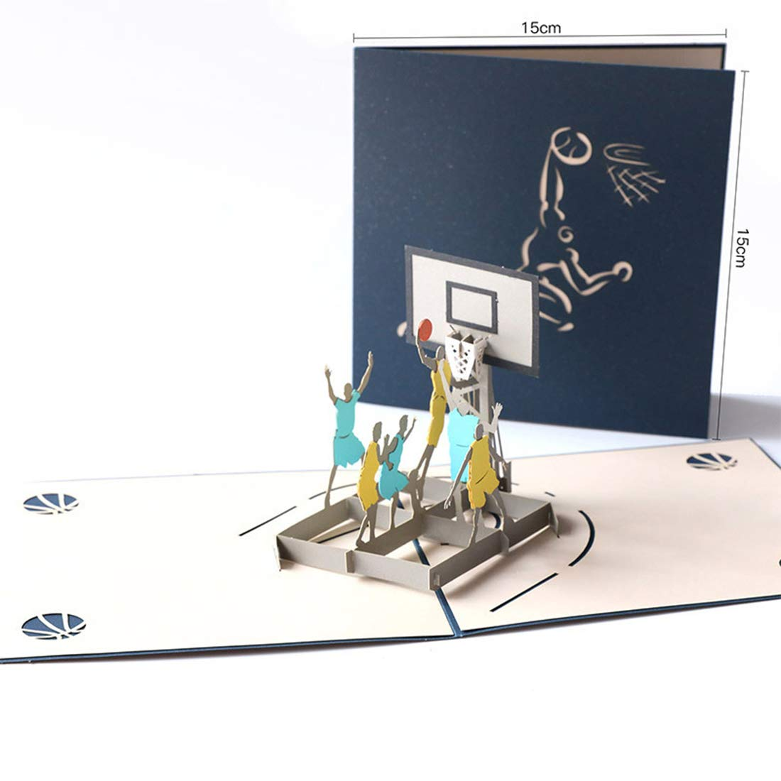 Pollusui Baloncesto estéreo 3D para Enviar la Tarjeta de ...