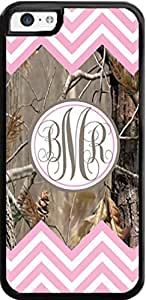 Country Girl Light Pink #2 Chevron and Monogram Camo Buck Case For iphone 5c