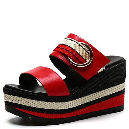 Resbalón D Con De Inferiores Las Deslizadores Sandalias Zzhf A Los Zapatos Planos SpqU7w