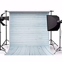 MOHOO 5x7ft Cotton (Updated Material) Photography Background Wood Floor Photo Backdrop Studio Props