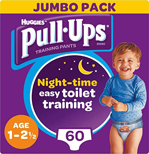 Huggies Pull-Ups Boy's Night Time Potty Training Pants, 1-2.5 Years (60 Pants)