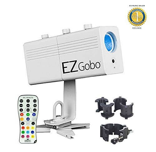 Chauvet EZgobo Rechargeable LED Gobo Lighting Effect with Chauvet CLP-10 Clamp and 1 Year Free Extended Warranty by Chauvet