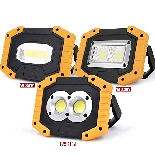 (KOKOIN COB 30W 1500LM LED Work Light 2 Pack, Super Bright Rechargeable Portable Waterproof LED Flood Lights Outdoor Camping Emergency Car Repairing Job Site Lighting)
