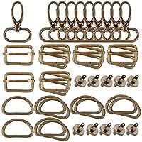 Fransande 40 stuks D-ringen 25 mm voor spuitmonden, magneetknoppen, draaisluitingen, drie naaizakken met schuifsluiting…
