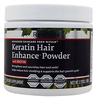 ResVitale - Keratin Hair Enhance Powder with Biotin - 2.75 oz.