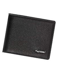 Rfid Blocking Mens Wallet | Voneta Rfid Leather Wallet For Men| Rfid Trifold Wallet Men | Credit Card Protector Purse Men Credit Card Holder 9 Card Slots and 1ID Window (Black)