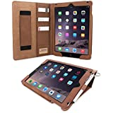 iPad 3 / iPad 4 Case, Snugg - Executive Smart Cover With Card Slots & Lifetime Guarantee ('Distressed' Brown Leather) for Apple iPad 3 & 4