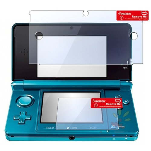 Everydaysource 2-in-1 Clear Reusable Screen Protector LCD Film Cover Compatible With Nintendo 3DS
