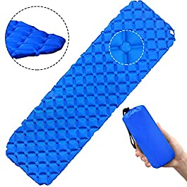 Camping Sleeping Pad Self Inflating Lightweight Sleeping Air Pad for Camping, Backpacking, Hiking,Fishing, Traveling Comfortable Air Support Cells Design Plus Repair Kit