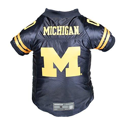 Littlearth NCAA Michigan Wolverines Premium Pet Jersey, Small