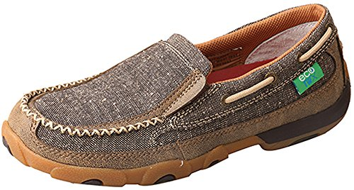 Twisted X Women's Eco TWX Slip-On Driving Moccasins Moc Toe Brown 9.5 M