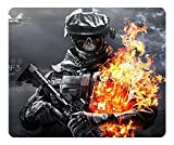 General High QualityMouse Pad Rectangle Mouse Pad Gaming Mousepad Battlefield 3 Skulls Fire Rectangle Mousepad Oblong Gaming Mouse Pads