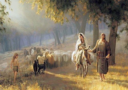 Joseph Brickey - Road to Bethlehem, Size 24x36 inch, Poster art print wall décor