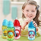 Bargain World Baby-Kind-reizende Karikatur-Tier Zoo Straw Cup Trinkflasche Nicht giftig BPA-frei...
