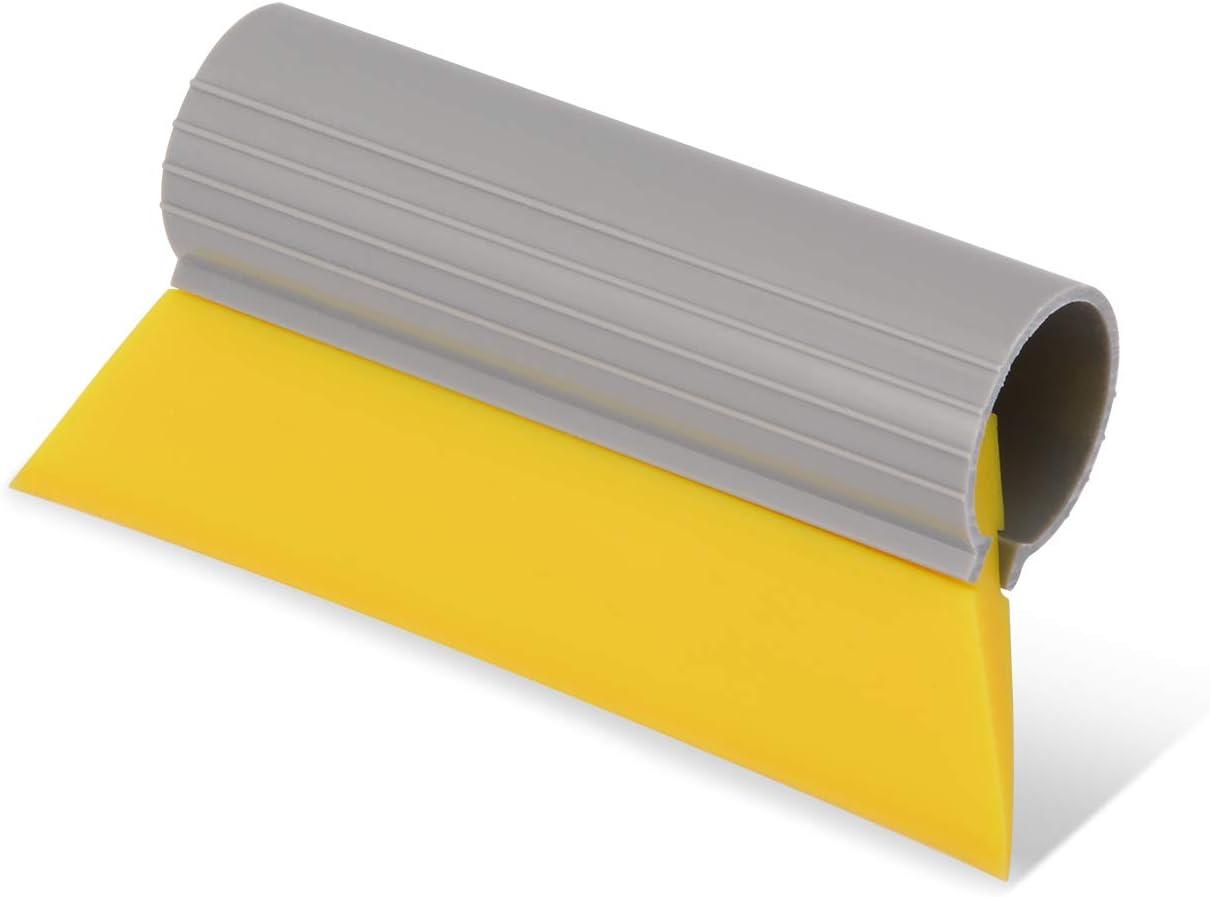 Ehdis Mini Turbo Squeegee Window Film Tools Tube Rubber Squeegee Water Blade Decal Wrap Applicator 5.5x2.8x1.4Inch (14x7x3.5CM) Car Home Tint