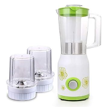 XWH Máquina de cocción Multifuncional, máquina de batido de Jugo doméstico, máquina molida de Leche de Soja sin molienda Seca molida en seco,Verde,Cm: ...