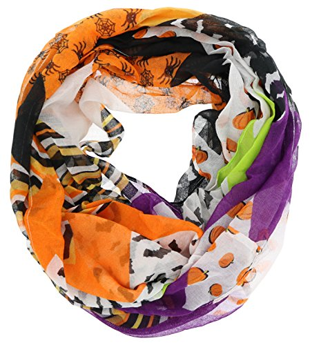 Halloween Theme Women's Gauze Infinity Scarf (Multi-Color Halloween (Halloween Scarves)