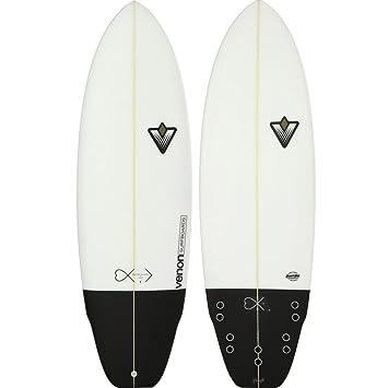 VENON EDV minivielle tabla de surf, blanco y negro