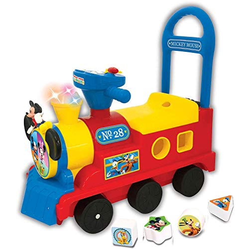 Disney Mickey Mouse Play n' Sort Activity Train (Mickey Mouse Battery Powered Ride On Toy)