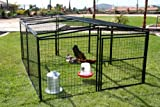 Rugged Ranch Products Metal Chicken Coop, 7-Feet by 8-Feet