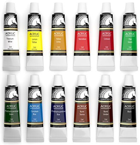 Acrylic paint set artist quality paints for painting for Quality craft vinyl plank reviews