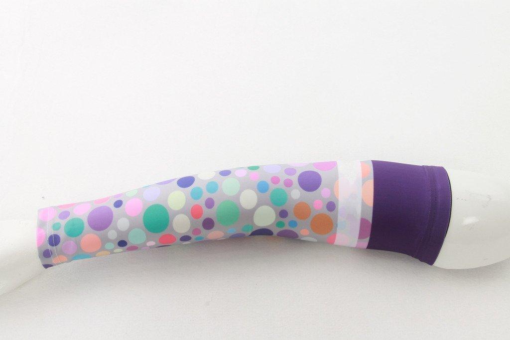 Spoz Pro Outdoor Sport Purple Bubbles Arm Sleeves