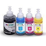 INKUTEN Refill Ink Kit High Yield for ET 4550 ET 2550 ET 4500 ET 2500 L110 L120 L210 L350 L355 L555 774 Pigment 664 Dye