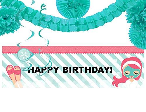 Little Spa Salon Makeover Party Supplies - Birthday Banner Decoration Kit by BirthdayExpress