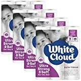 White Cloud Strong & Soft 2 Ply Toilet Paper, 48 Mega Rolls (Pack of 4 with 12 Rolls Each), 308 Sheets Per Roll