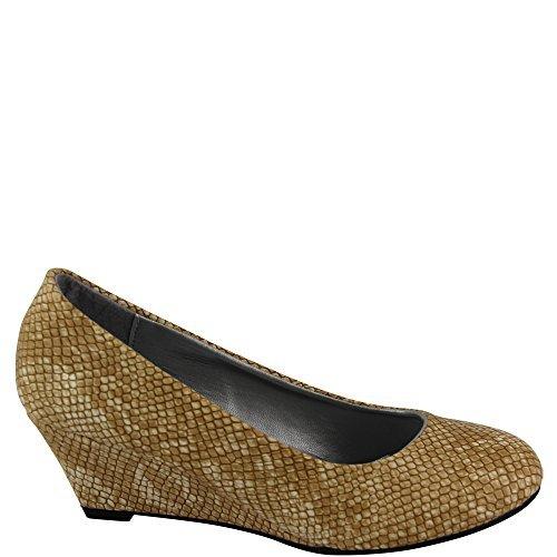 Unbekannt - Zapatos de vestir de Material Sintético para mujer Beige beige