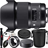 Sigma 20mm f/1.4 DG HSM Art Lens for Canon EF with MC-11 Mount Converter/Lens Adapter (Canon EF-Mount Lenses to Sony E) 8PC Bundle. Includes Manufacturer Accessories + Lens Pen + Dust Blower + Lens Pouch + Microfiber Cleaning Cloth