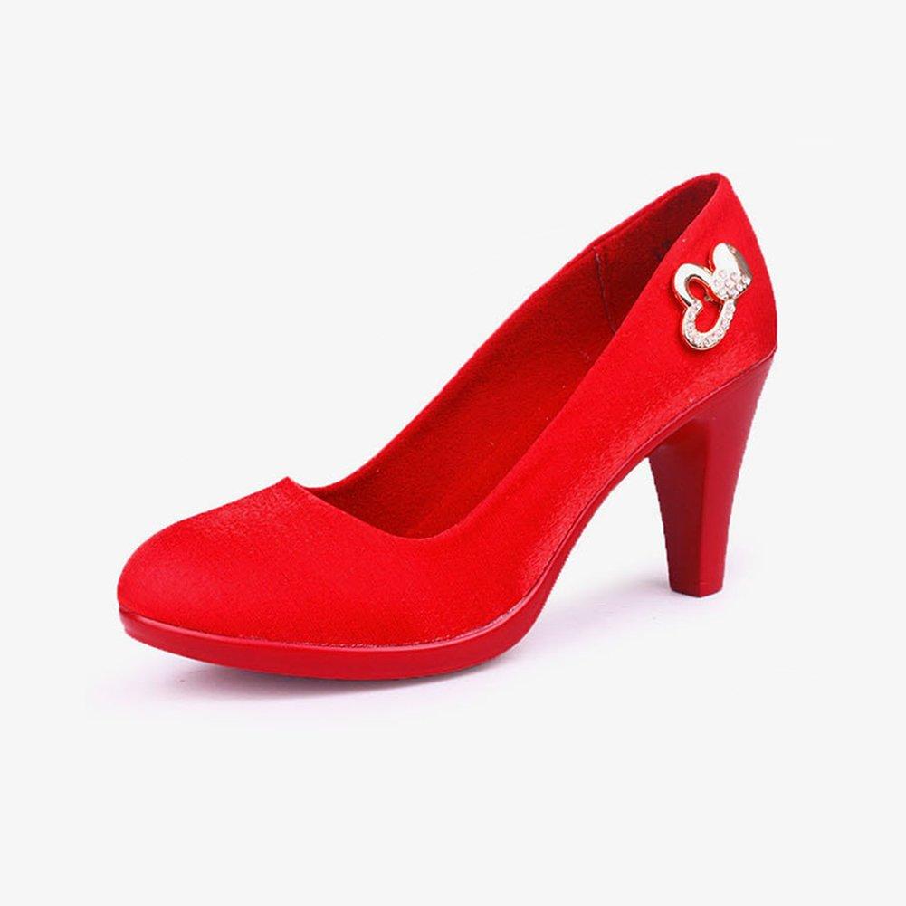 XUERUI Neue atmosphärische Schuhe Schuhe Schuhe Bequeme rote High Heel Etikette Hochzeitsschuhe Pumps (größe   EU37 UK4.5-5 CN37) 9a43a2