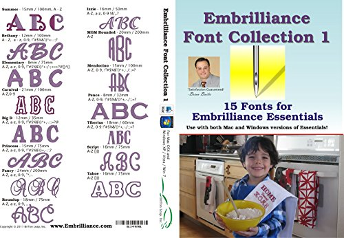 - Embrilliance Font Collection 1 Embroidery Software for Mac & PC