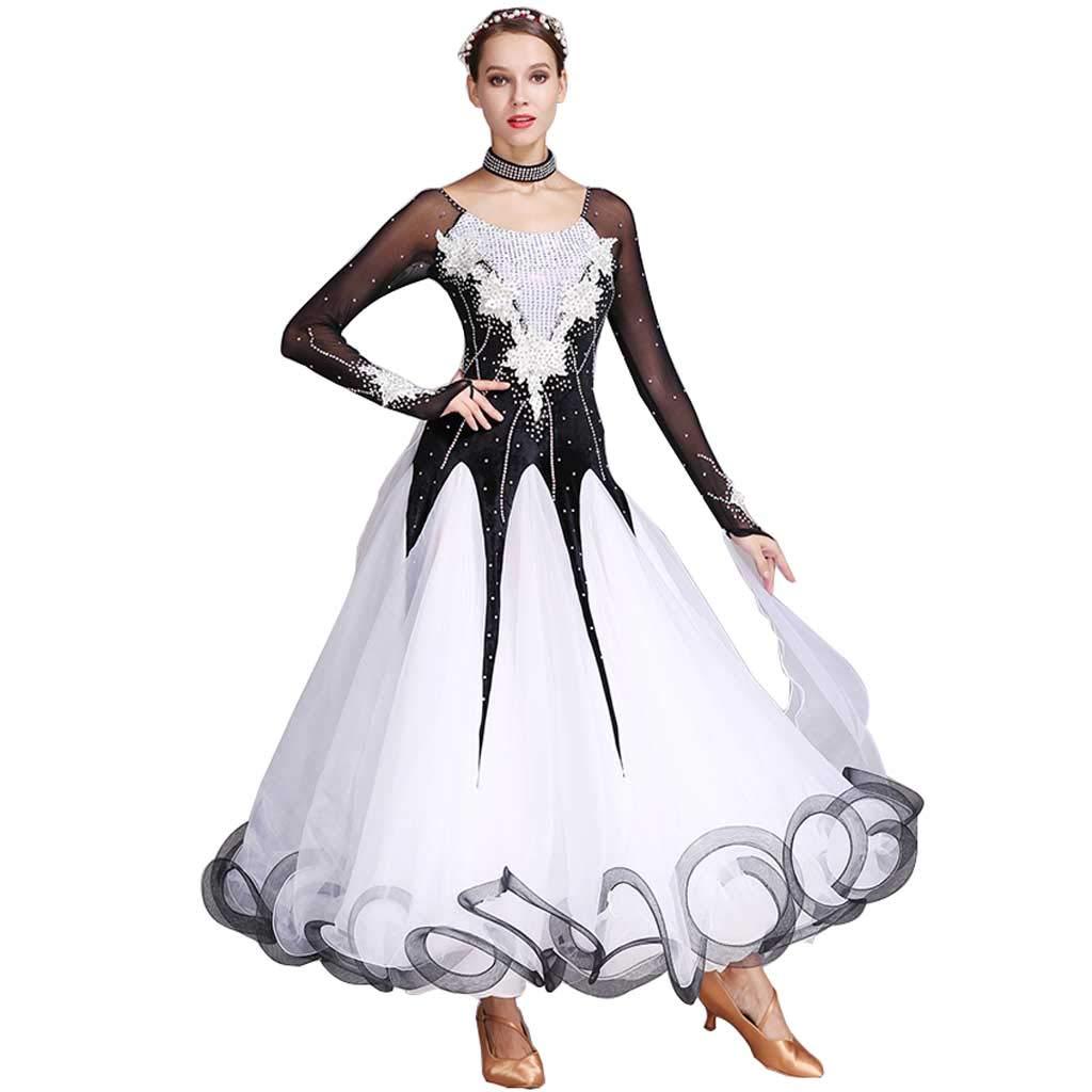 スーパーセール期間限定 フォーシーズンズブラックモダンダンススカート手作り水可溶性花、ビッグスイングスカート女性 S B07H2WLCRN ブラック S S s|ブラック ブラック S s, fcl(エフシーエル)HID屋:75ebcd5c --- synnexsoftech.com