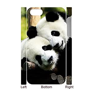 3D Bumper Plastic Case Of Panda customized case For Iphone 4/4s