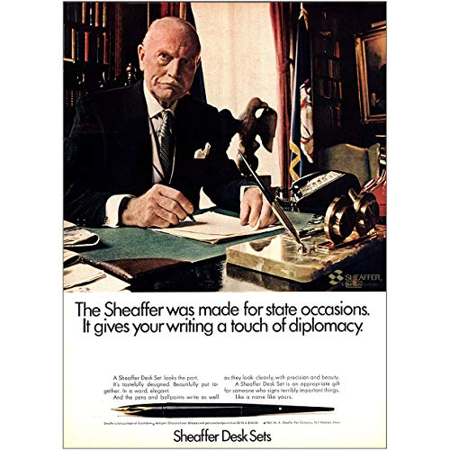 RelicPaper 1967 Sheaffer Desk Sets: Made for State Occasions, Sheaffer Pen Company Print Ad