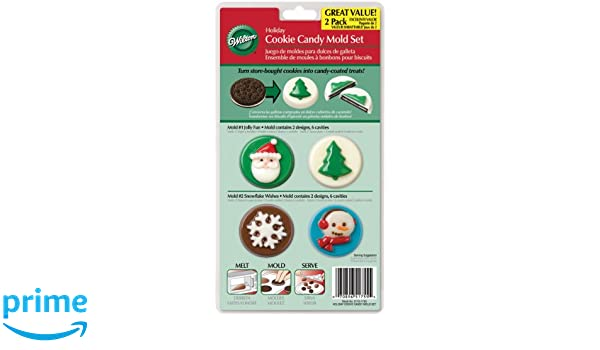 Amazon.com: Wilton 8-Cavity Candy Mold, Christmas: Candy Making Molds: Kitchen & Dining