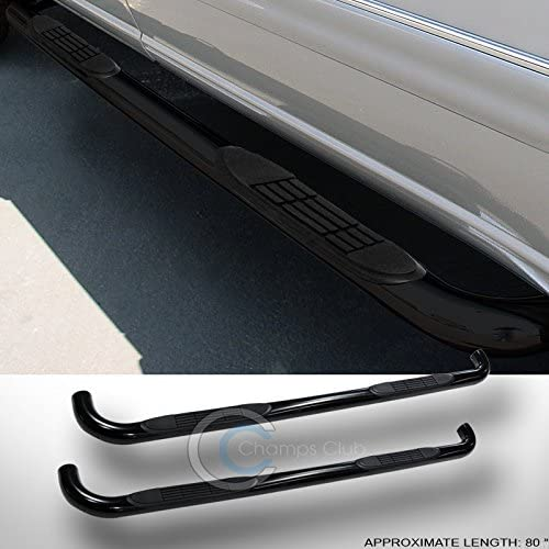 Velocity Concepts 3 HD BLK Side Step NERF Bars Running Boards 01-04 for Chevy S10//GMC Sonoma Crew CAB