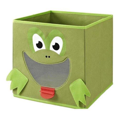 Monkeyland Green Frog Fabric Storage Organizer Bin by Dorel