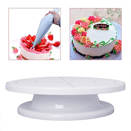 Amazon Com 11 Revolving Rotating Cake Plate Decorating Turntable