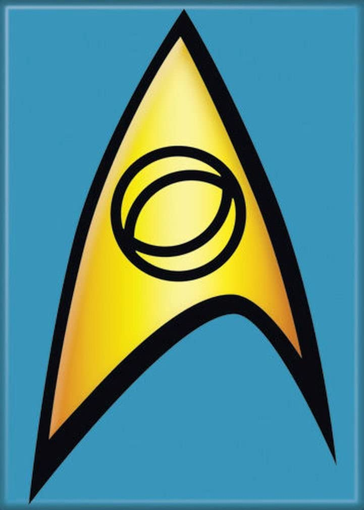 "Ata-Boy Star Trek Science Insignia 2.5"" x 3.5"" Magnet for Refrigerators and Lockers"