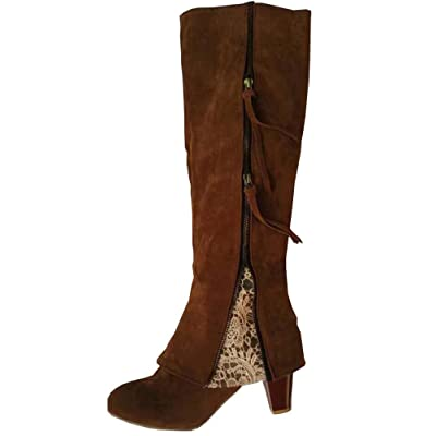 2017 autumn and winter Long boots lace tassel Women's shoes