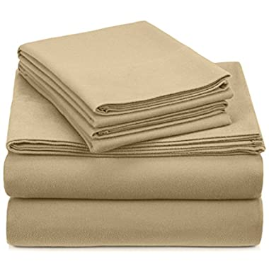 Pinzon Heavyweight Flannel Sheet Set - King, Chamois