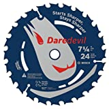 Bosch DCB724B3 3-Piece 7-1/4 In. 24 Tooth Daredevil Portable Saw Blade Framing